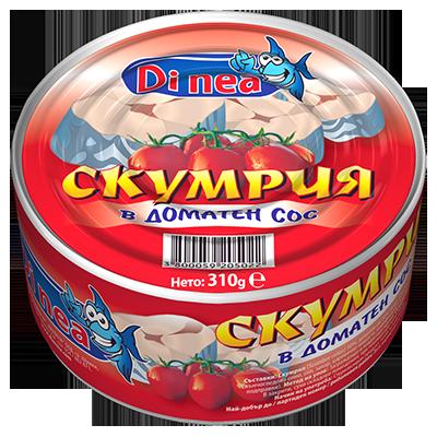 Скумрия в доматен сос 310гр.