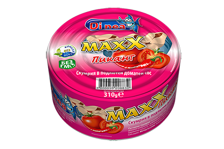 Mackerel in spicy tomato sauce 310g.