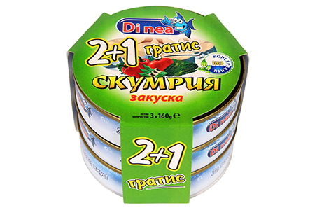 Mackerel Breakfast 2+1 3х160g.