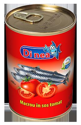 Macrou în sos tomat 425g.
