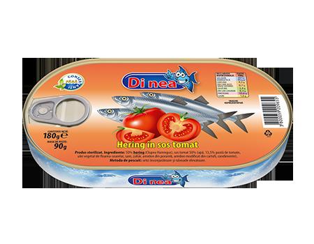 Herring în sos tomat 180g.